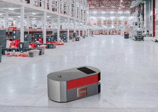 Nano Autonomous Mobile Robot AMR charging contacts