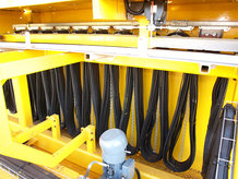 C-Rail Cable Festoon System in use on a process crane