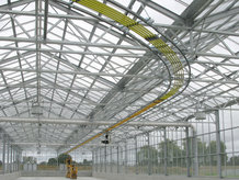 Solar sludge drying plant