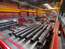 Overhead Bridge Crane in a Pipe Rolling Plant