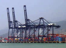 Energy and data transmission for STS Container Crane (wire rope driven main trolley