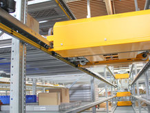 Conductor Rails are used at the Shuttle System application